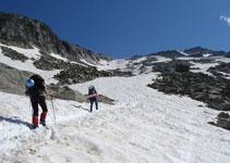 La nieve facilita el avance.