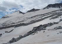 Típica vista del Aneto y su glaciar, en las inmediaciones del Portillón Superior.