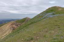 El pico del Medio y el Casamanya Sur llegando al Casamanya Norte.
