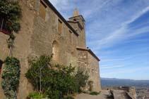 La fachada meridional del Castellvell.