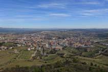 Desde el castillo las vistas de la ciudad de Solsona son magníficas.