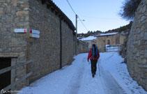 En invierno, este pueblo de la cara norte del Cadí, es uno de los más fríos.