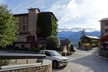 Llegamos finalmente al Hotel Muntanya, en el centro de Prullans.