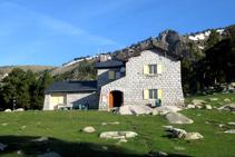 Refugio de Malniu, en el municipio de Meranges, punto de inicio de la excursión.