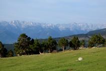 Vistas de la imponente cara norte de la sierra del Cadí.