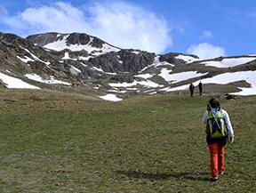 Puigpedr�s (2.915m) por Engorgs desde el refugio de Malniu
