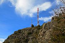 Finalmente aparecen las antenas de Sant Corneli.