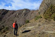 Enfrente nos aparece la cresta que une la collada de Bracons con el Puigsacalm.