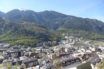 Vistas de la Umbría de Andorra.