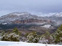 Vistas de Canalda desde la carretera de Solsona a Coll de Jou