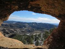 Vistas desde el interior de la cueva