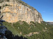 Roca de Canalda, ahora a nuestra izquierda