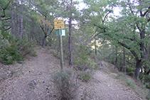 Desvío: nosotros tomamos el camino de la izquierda hacia el Grau de Puerta / Ruta del Corb.