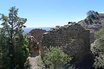 Restos de la ermita de Sant Salvador del Corb.
