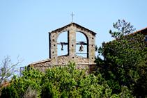 Campanario de la iglesia de La Vajol.