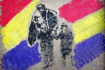 Mural de homenaje a los exiliados en las paredes de Mina Canta.