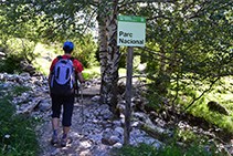 Entramos estrictamente en el interior del Parque Nacional (señal).