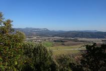 Vistas al valle desde la cantera de Colldegria.
