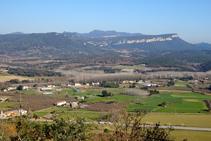 Vistas al Pla del Pasteral desde Colldegria.