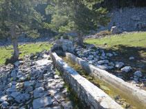 Pequeña fuente en el área de picnic de Els Orris.