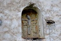 Detalle de la fachada de la iglesia de Sant Julià.