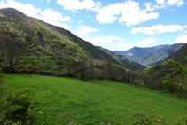 Prados de pasto en el valle de Unarre.