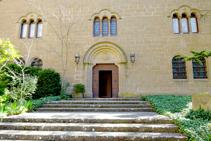 Entrada al monasterio benedictino.