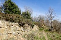 Restos del antiguo camino real.