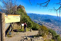 El inicio del camino de descenso por la Drecera.