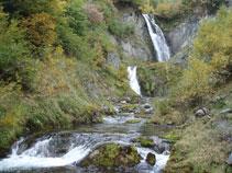 Las dos cascadas del Saut deth Pish: la inferior y más pequeña y la superior, la más grande.