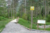Punto de inicio del sendero accesible del Cornato.