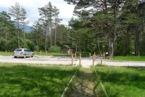 Punto de inicio y final del sendero accesible del Cornato.