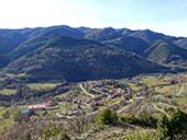 La sierra de Puig d´Estela en Vallfogona de Ripollès