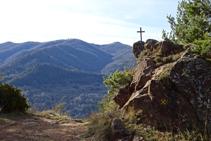 Vistas a mediodía desde el collado de la Creu de Can Civat.