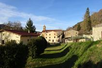Camino real entrando en Vallfogona de Ripollès.