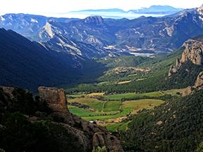 Serra Seca y el Pla de les Gu�rdies desde Cambrils