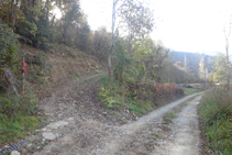 Dejamos la pista y subimos por el camino de la izquierda.