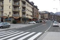 Cruzamos el pueblo y llegamos al Hotel Les Brases.