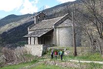 Llegando nuevamente a la iglesia de Santa Magdalena de Puigsac.