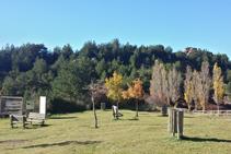 El área de descanso de Santa Creu.
