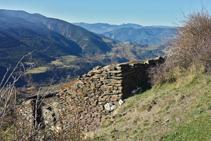 Ruinas del corral del Marquet, donde acaban los hitos.