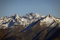 Pico de Sotllo, Pica d´Estats y Monteixo.