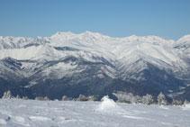 Las zonas más altas del Pallars Sobirá con nieve abundante.