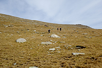 Últimas rampas antes de alcanzar el pico.
