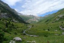 El valle de Otal desde el collado de Otal.