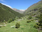 Valle de Riqüerna y camino de Rus desde Capdella
