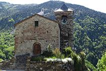 Iglesia parroquial de Sant Vicenç, en la parte alta de Capdella.