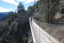 Pasarela del Nicolau, un puente colgante de 35m.