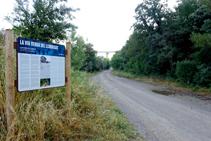 Inicio de la vía verde del Llobregat.