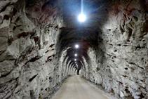 Interior del segundo túnel.